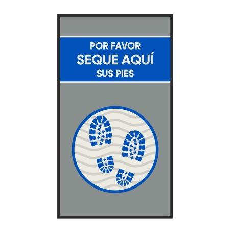 Alfombra de secado (Jet Print azul)